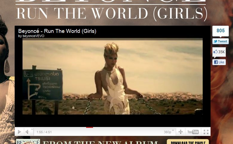 beyonce run the world download video